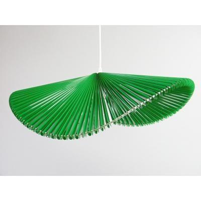 Exkluzív függesztett mennyezeti lámpa, hullámvonalú, fűzöld  - ONDES